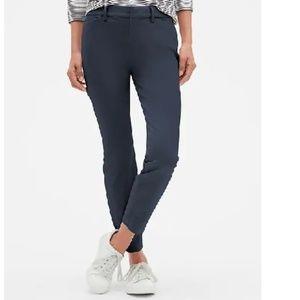 NWT Gap Signature Skinny Ankle Khakis 6 Blue c446